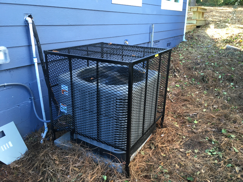 ac cage install backyard