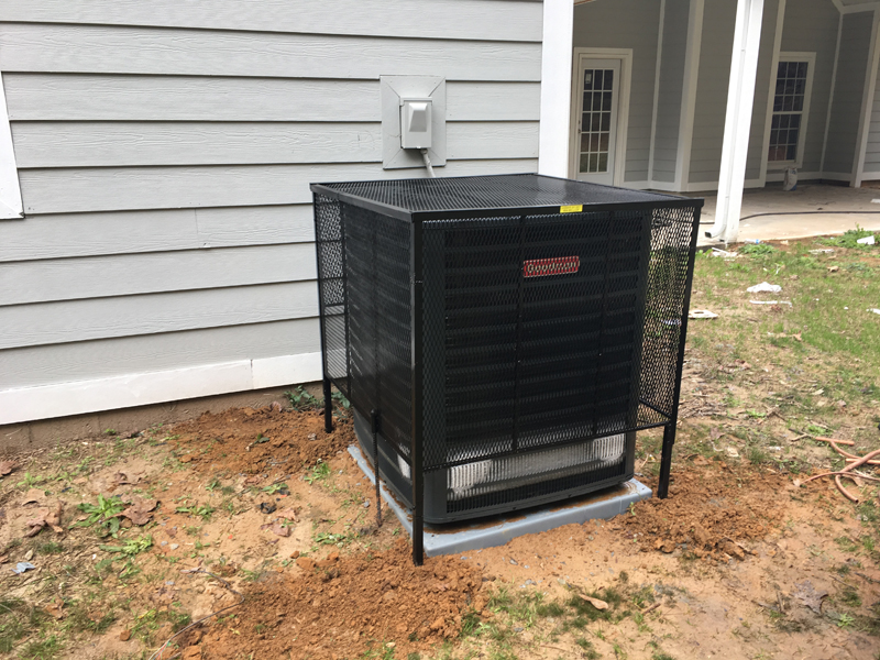 ac cage on taller ac unit
