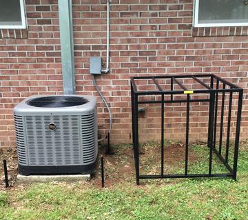 window air conditioner security cage