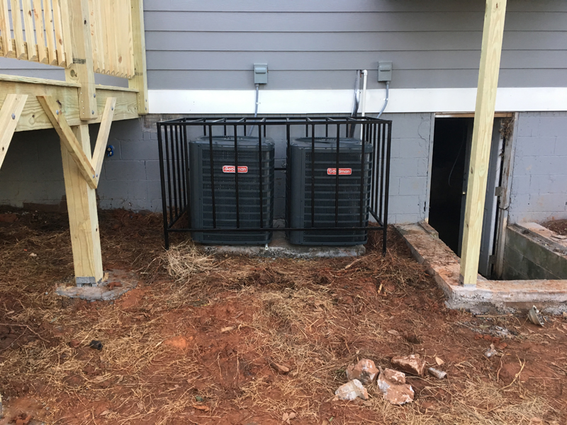 double ac cage near deck