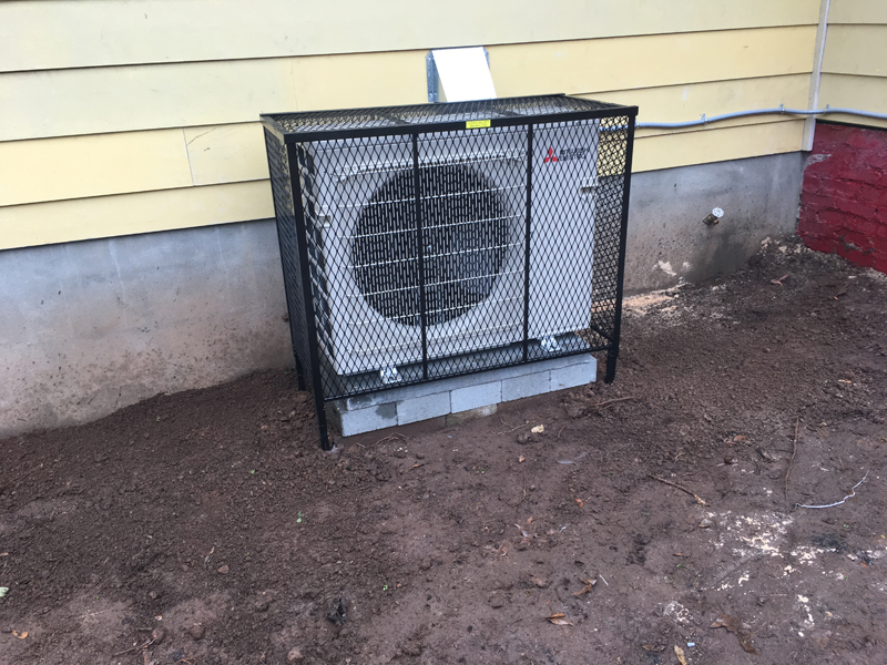 new ac cage installation