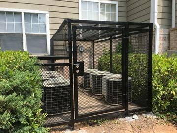 large ac cage for commercial property