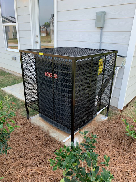 ac cage new landscaping