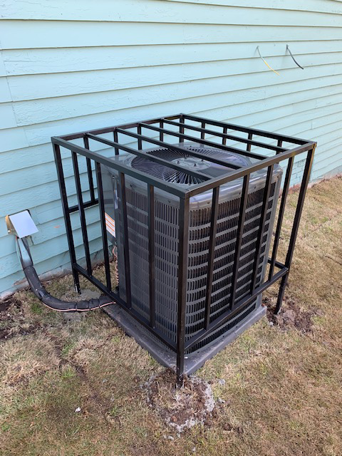 ac cage on new sod