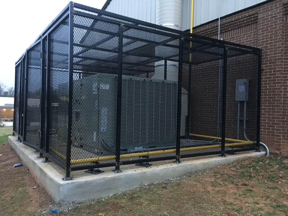 security cage side view